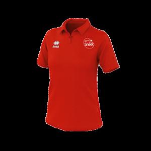 VC Sneek dames polo Shadir rood front