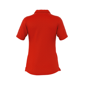 VC Sneek dames polo Shadir rood back
