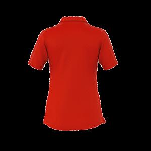 VC Sneek dames polo Shadir rood back